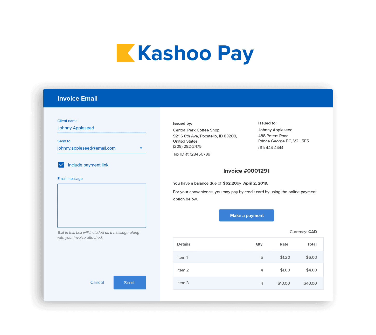 Get paid faster with Kashoo pay